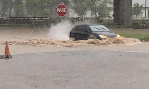 Persistente quadro de chuva localmente intensa e temporais
