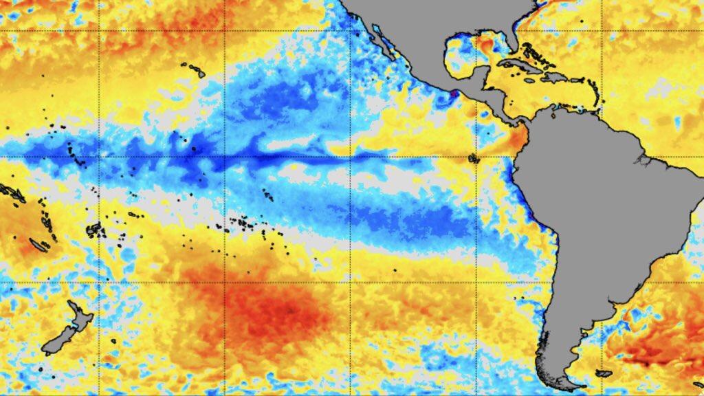 """<span class=""""entry-title-primary"""">La Niña oscila no Pacífico</span> <h2 class=""""entry-subtitle"""">Águas seguem mais frias do que a média na região equatorial do oceano </h2>"""