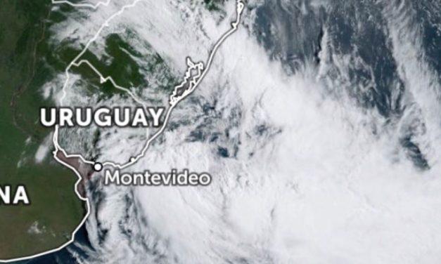 Ciclone se forma a Sudeste do Rio Grande do Sul