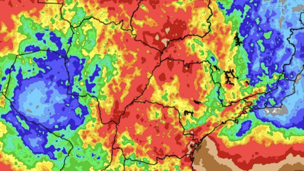"""<span class=""""entry-title-primary"""">Previsão do tempo – Tendência de chuva para sete dias</span> <span class=""""entry-subtitle"""">Áreas costeiras de Santa Catarina e do Paraná terão muita chuva </span>"""