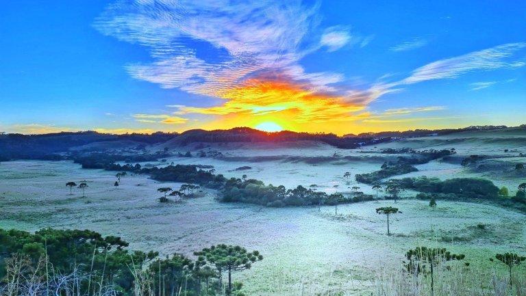 """<span class=""""entry-title-primary"""">Geada e frio de 2°C</span> <h2 class=""""entry-subtitle"""">Começo do domingo foi gelado nas áreas de maior altitude do Sul do Brasil </h2>"""