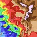 Chuva muito volumosa entre o Sul do Brasil e São Paulo