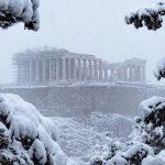 """<span class=""""entry-title-primary""""><span style='color:#ff0000;font-size:14px;'>φλωρινα</span><br> Rara nevasca em Atenas</span> <span class=""""entry-subtitle"""">Tempestade de neve atingiu a capital da Grécia e Temperatura chegou a -25°C no país </span>"""