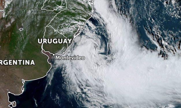 Ciclone traz ventania e agitação marítima