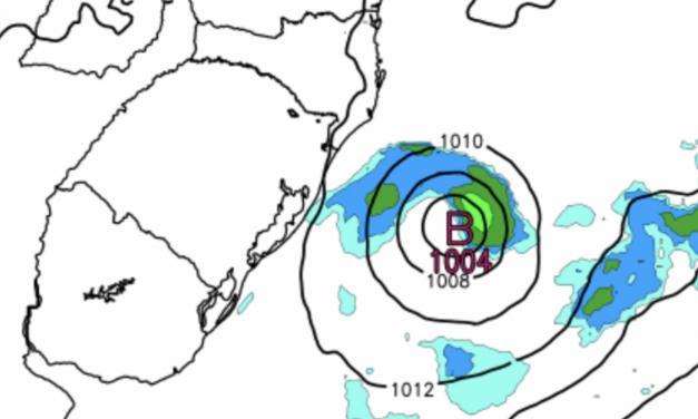 Baixa pressão na costa trará instabilidade