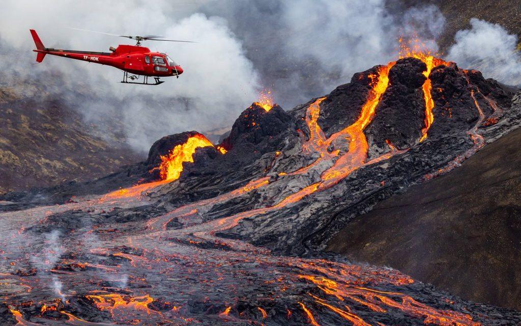 """<span class=""""entry-title-primary"""">As belas imagens da erupção vulcânica na Islândia</span> <span class=""""entry-subtitle"""">Erupção é de pequeno porte e não oferece risco à população local no momento </span>"""