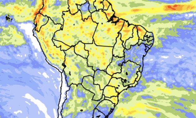 Previsão do tempo – Tendência de chuva para dez dias