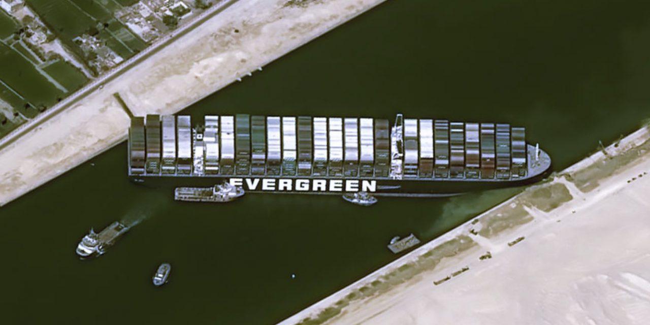 """<span class=""""entry-title-primary"""">Airbus divulga imagens do navio e a crise em Suez</span> <span class=""""entry-subtitle"""">Navio obstrui passagem estratégica e ameaça comprometer comércio internacional de mercadorias </span>"""