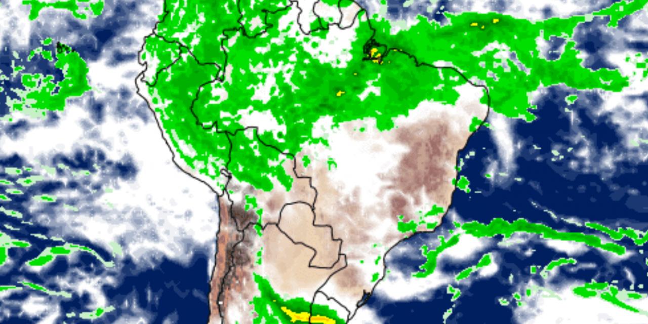 """<span class=""""entry-title-primary"""">Bloqueio mexe com o tempo em grande parte do Brasil</span> <span class=""""entry-subtitle"""">Bloqueio inibe chuva no Brasil Central e favorece instabilidade no Rio Grande do Sul </span>"""