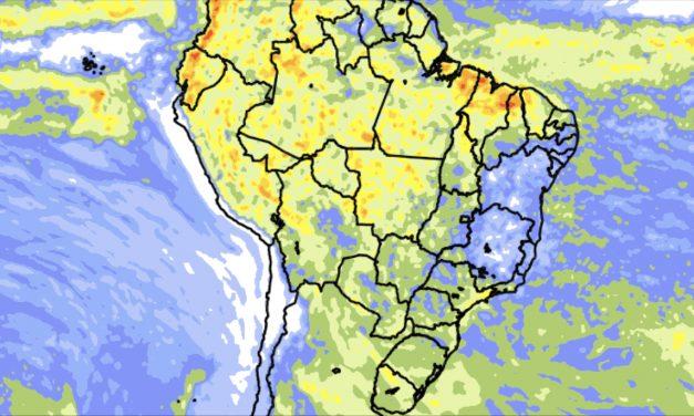 Tendência de chuva para dez dias no Brasil