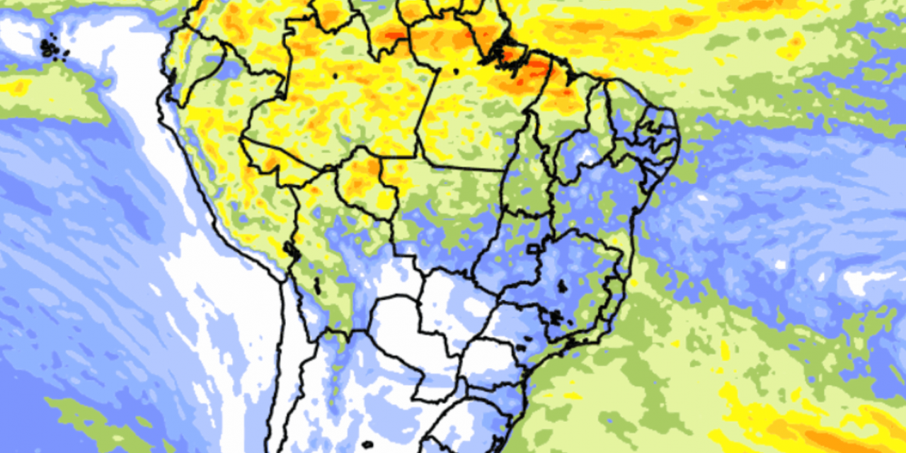 """<span class=""""entry-title-primary"""">Previsão do tempo Brasil – Tendência de chuva para dez dias</span> <span class=""""entry-subtitle"""">Norte do Brasil terá os maiores volumes de chuva no território brasileiro no começo de abril </span>"""