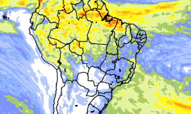 Previsão do tempo Brasil – Tendência de chuva para dez dias