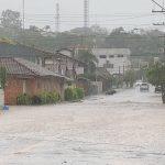 Chuva forte e alagamentos no Rio Grande do Sul