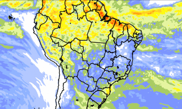 Tendência de chuva para dez dias em todo o Brasil