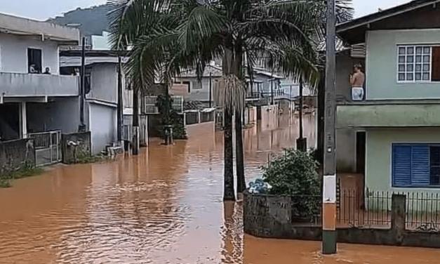 Chuva muito acima da média no Nordeste de Santa Catarina