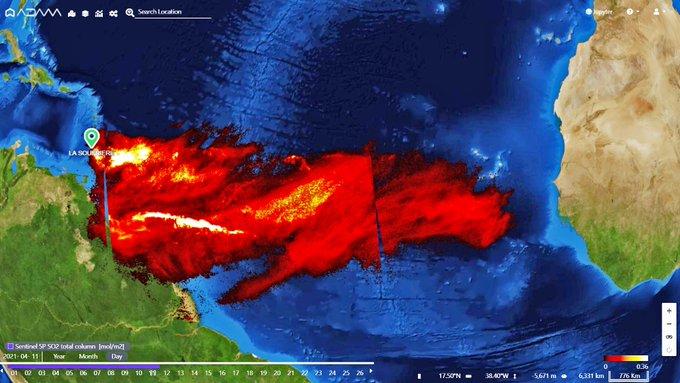 """<span class=""""entry-title-primary"""">Gases do vulcão no Caribe chegam ao Norte do Brasil</span> <h2 class=""""entry-subtitle"""">Erupção do vulcão La Sufrière leva gases e cinzas a grandes altitudes na atmosfera e que viajam a grande distância com as correntes de vento </h2>"""