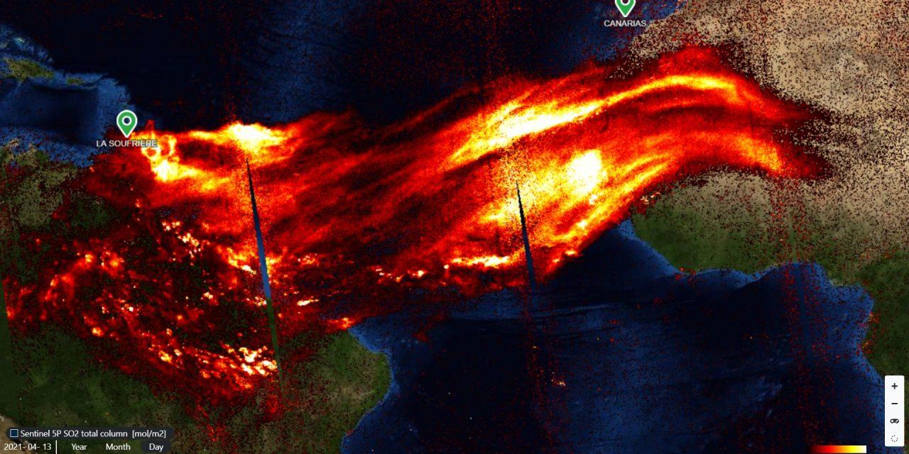 """<span class=""""entry-title-primary"""">Gases do vulcão atingem América do Sul e África</span> <h2 class=""""entry-subtitle"""">Dióxido de enxofre liberado pela grande erupção na ilha de Saint Vincent cobre extensas áreas do Norte do Brasil, revelam imagens de satélite europeu</h2>"""