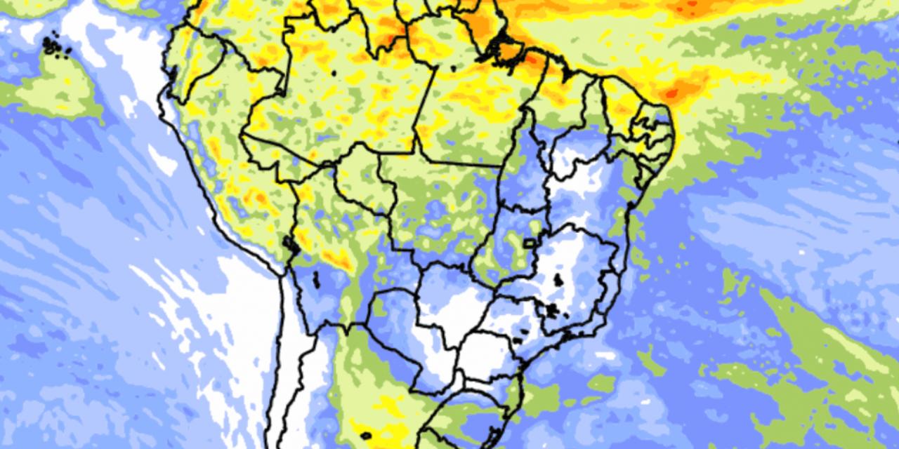 """<span class=""""entry-title-primary""""><span style='color:#ff0000;font-size:14px;'>CHUVA </span><br> Tendência de chuva no Brasil nos próximos dez dias</span> <span class=""""entry-subtitle"""">Norte do país será novamente a região com os maiores índices de precipitação </span>"""