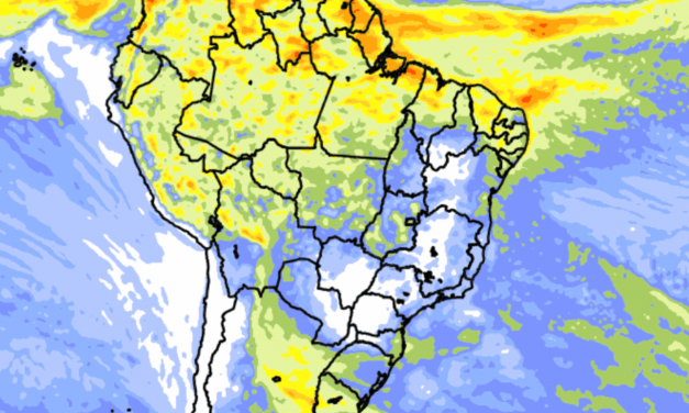 Tendência de chuva no Brasil nos próximos dez dias