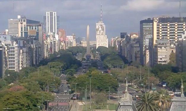 Ar frio atua em Buenos Aires