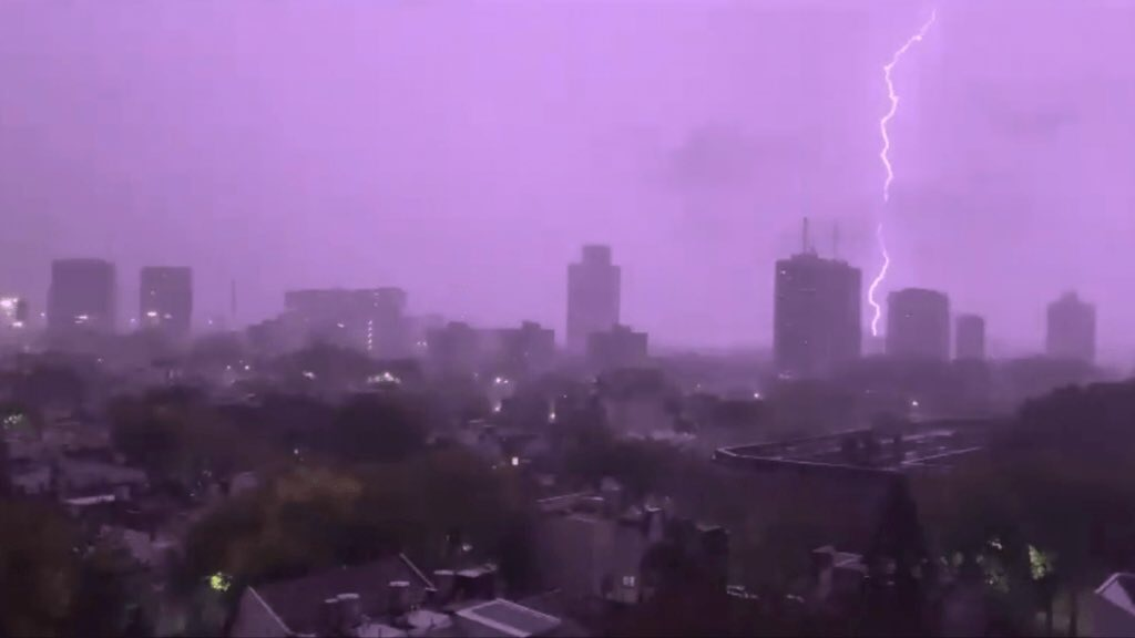 Temporal atinge Buenos Aires
