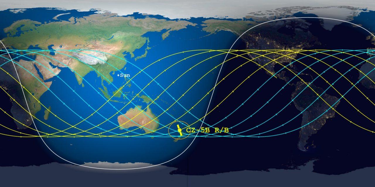 """<span class=""""entry-title-primary"""">Onde vai cair o foguete chinês Long March 5B?</span> <span class=""""entry-subtitle"""">Experts projetam a reentrada do estágio principal do foguete chinês de 21 toneladas neste fim de semana</span>"""