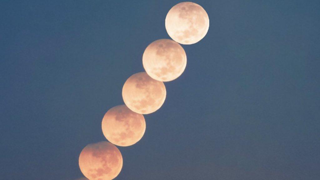 """<span class=""""entry-title-primary"""">Veja a evolução do eclipse da Superlua</span> <h2 class=""""entry-subtitle"""">Registro fotográfico foi feito no Litoral Norte do Rio Grande do Sul </h2>"""