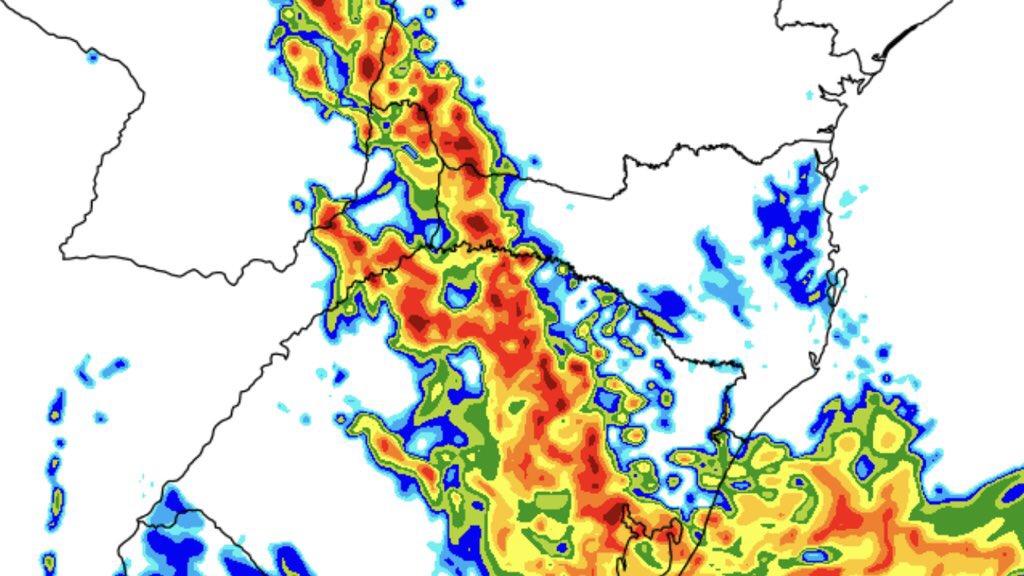 """<span class=""""entry-title-primary"""">Aviso de chuva forte e risco de temporais no Sul do Brasil</span> <h2 class=""""entry-subtitle"""">Instabilidade ganha força entre esta sexta-feira e o sábado com um centro de baixa pressão e uma frente fria que trarão chuva forte e risco de temporais </h2>"""