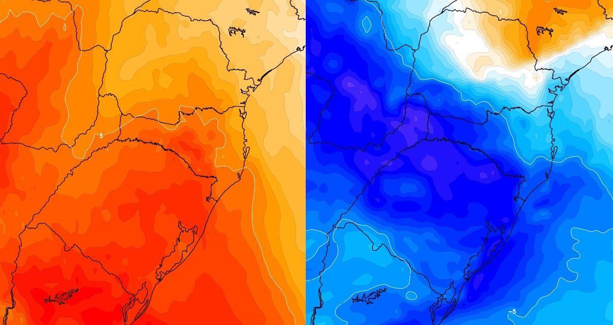 """<span class=""""entry-title-primary"""">Radical mudança de temperatura entre hoje e o meio da semana</span> <span class=""""entry-subtitle"""">Calor de hoje à tarde vai dar lugar ao frio na segunda metade desta semana com a chegada de uma massa de ar frio </span>"""