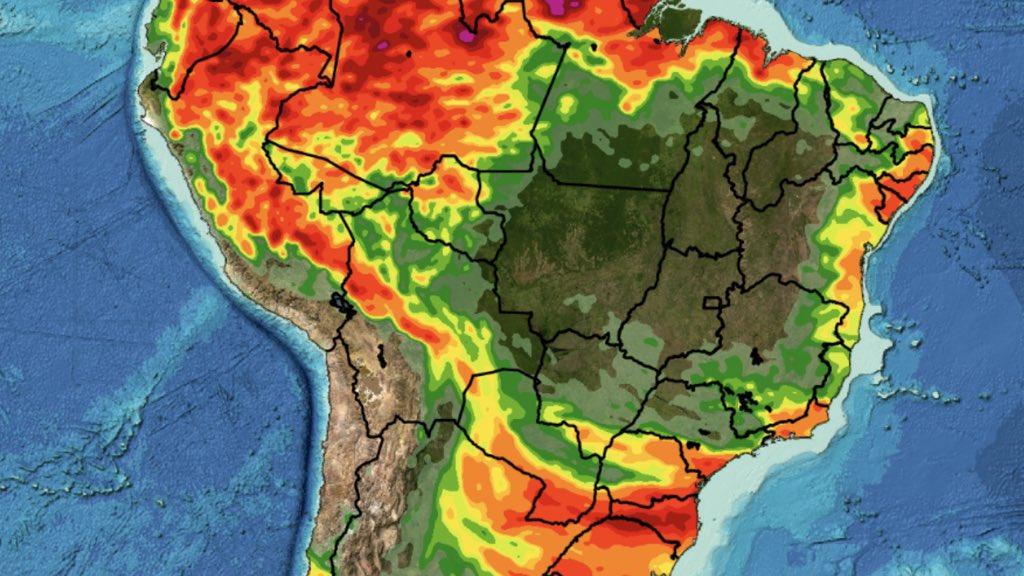 """<span class=""""entry-title-primary"""">Tendência de chuva para dez dias no Brasil</span> <span class=""""entry-subtitle"""">Sul do Brasil experimentará um aumento da chuva no Sul do Brasil nestes primeiros dez dias de junho </span>"""