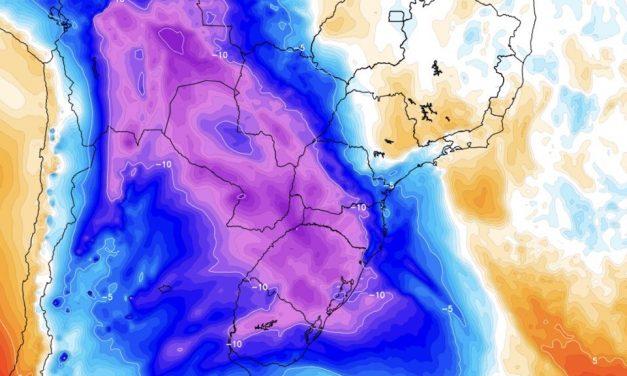 Poderosa massa de ar polar chega ao Brasil com chance de neve no Sul do país