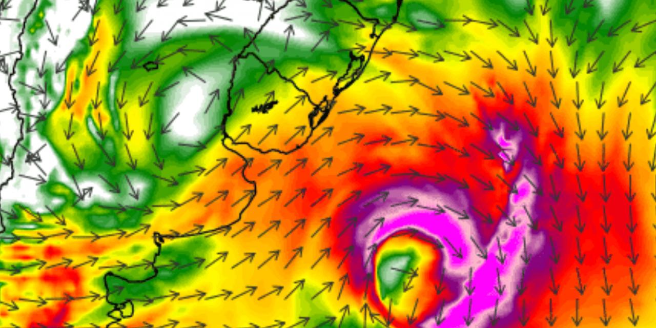 """<span class=""""entry-title-primary"""">Ciclone extratropical traz risco de vento forte a intenso</span> <span class=""""entry-subtitle"""">Risco de ventania se dará no momento de formação do ciclone com uma corrente de jato em baixos níveis e a passagem de uma frente fria</span>"""