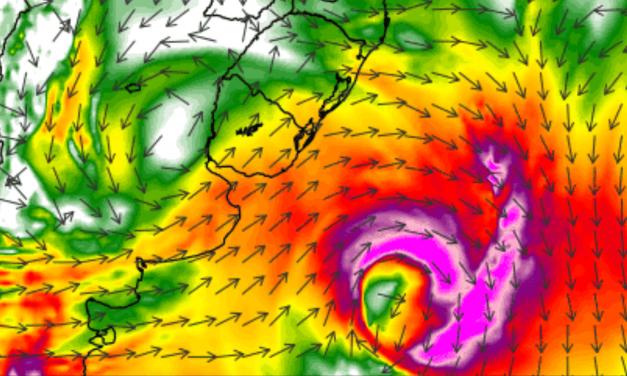 Ciclone extratropical traz risco de vento forte a intenso