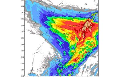 Chuva forte atingirá os três estados do Sul do país No fim de semana uma frente fria poderá trazer volumes altos de precipitação em parte do Sul do Brasil