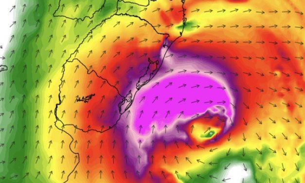 Dois ciclones em sequência vão trazer ar frio