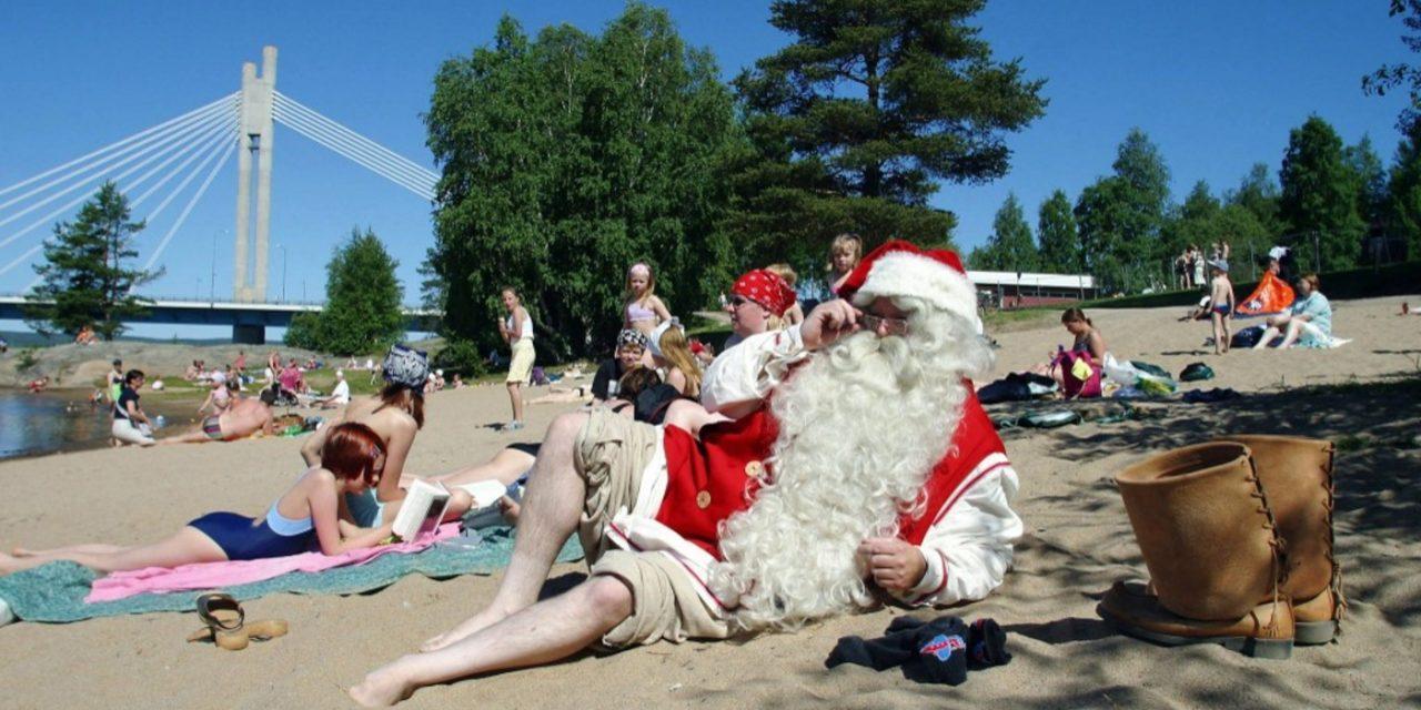 """<span class=""""entry-title-primary"""">Terra do Papai Noel tem maior calor em 107 anos</span> <h2 class=""""entry-subtitle"""">Várias estações na região da Escandinávia registraram recordes absolutos de temperatura máxima neste começo de semana </h2>"""
