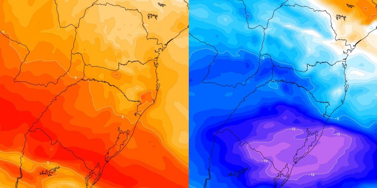 """<span class=""""entry-title-primary"""">Semana de choque térmico vai do calor ao frio</span> <h2 class=""""entry-subtitle"""">Semana começa sob temperatura muito alta para esta época do ano e terminará com uma massa de ar frio </h2>"""