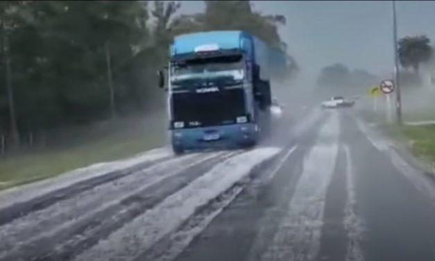 Frente fria com granizo no Uruguai trará chuva no Sul do Brasil
