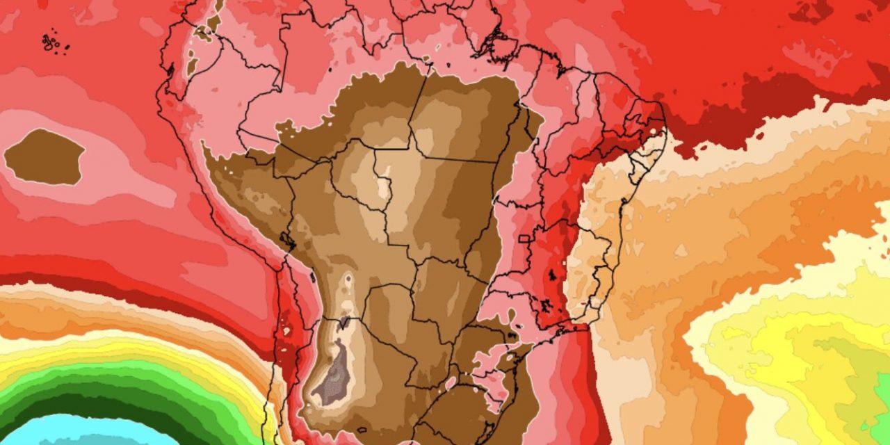 """<span class=""""entry-title-primary"""">Enorme massa de ar quente cobrirá Brasil de Sul a Norte</span> <h2 class=""""entry-subtitle"""">Vários estados do Sul, Centro-Oeste e do Sudeste terão calor intenso com máximas de 35°C a 40°C </h2>"""