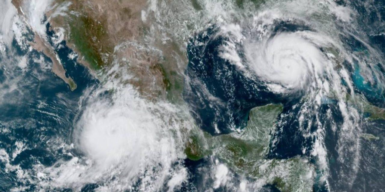 """<span class=""""entry-title-primary"""">Uma dupla de furacões</span> <h2 class=""""entry-subtitle"""">Meteorologistas monitoram neste momento um furacão na costa Oeste do México e outro que rapidamente ganha força sobre o Golfo do México  e deve ser devastador</h2>"""