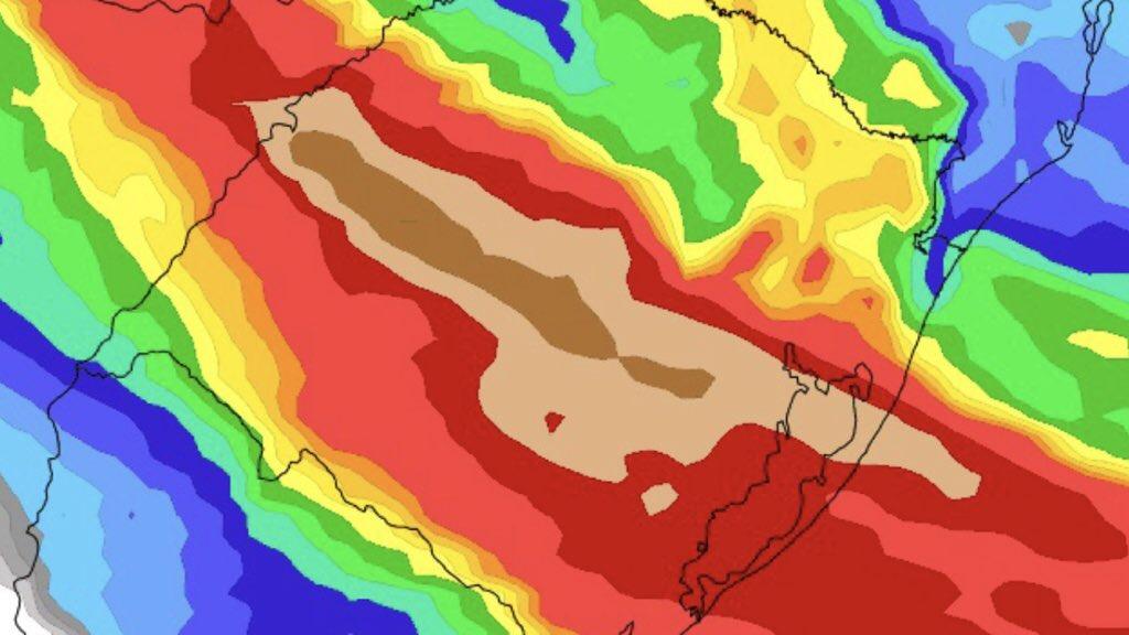 """<span class=""""entry-title-primary"""">Chuva vai superar 100 mm em parte do Estado até quinta-feira</span> <h2 class=""""entry-subtitle"""">Rio Grande do Sul terá um período de muita Instabilidade com chuva volumosa em parte do Estado entre esta terça e a quinta-feira </h2>"""