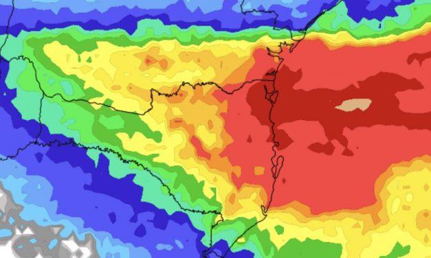 Episódio de chuva volumosa no Sul do Brasil