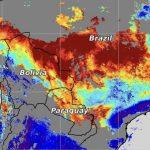 Muita fumaça de queimadas sobre o Centro do Brasil