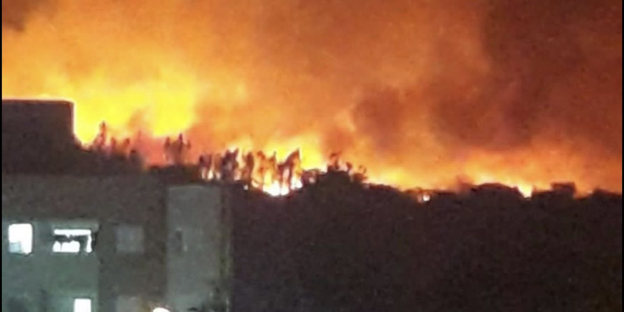 """<span class=""""entry-title-primary"""">Grande incêndio assusta Uberlândia</span> <h2 class=""""entry-subtitle"""">Incêndio de grandes proporções em vegetação ilumina o céu de Uberlândia e outra cidade mineira teve chuva preta</h2>"""