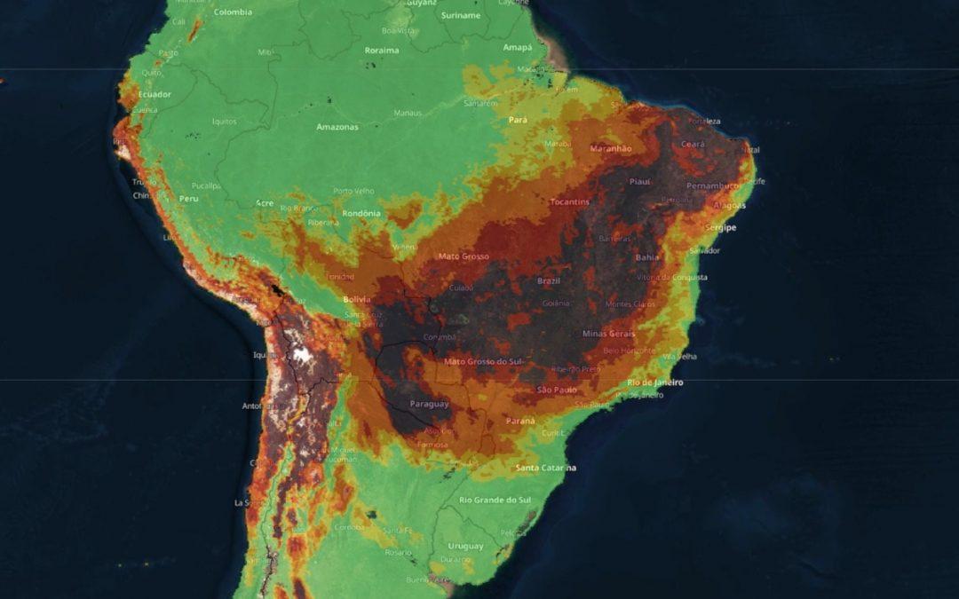 Previsão – 7 de setembro muito quente e de fogo no Brasil Feriado pode ser o dia mais quente até agora no ano em pontos do Planalto Central e risco de incêndios será muito elevado a extremo