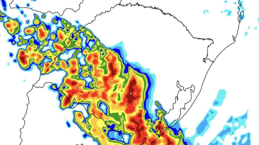 """<span class=""""entry-title-primary"""">Domingo deve terminar com fortes temporais de chuva, raios, granizo e vento</span> <h2 class=""""entry-subtitle"""">Tempo volta a mudar neste domingo com alto risco de tempo severo no final do dia no Oeste e no Sul gaúcho</h2>"""