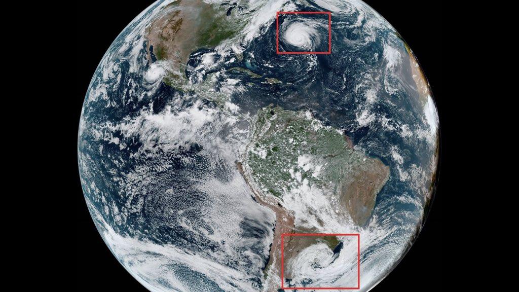 """<span class=""""entry-title-primary"""">O ciclone na Argentina e o furacão Larry</span> <h2 class=""""entry-subtitle"""">Ciclone na Argentina é muito maior em dimensão enquanto o ciclone no Atlântico Norte é muito mais intenso</h2>"""