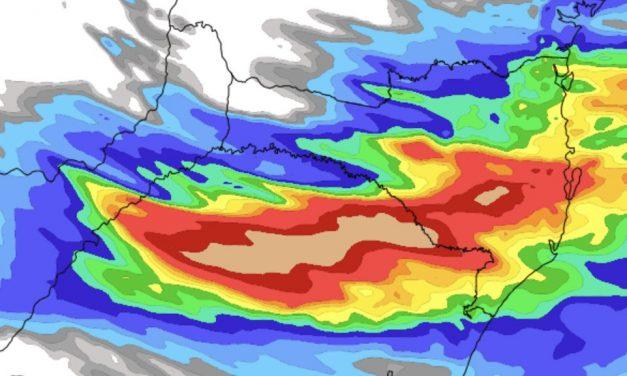 Muita chuva hoje entre o Norte do Rio Grande do Sul e Santa Catarina