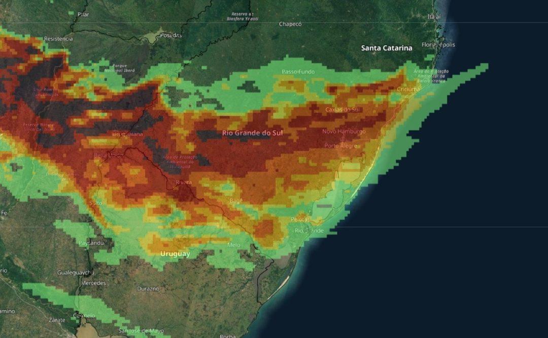 Rio Grande do Sul será uma das áreas com mais raios no mundo no 7 de setembro Terça-feira será de intensa instabilidade em parte ou grande parte do dia no Oeste, no Centro, Sul e o Leste gaúcho com muita chuva e raios