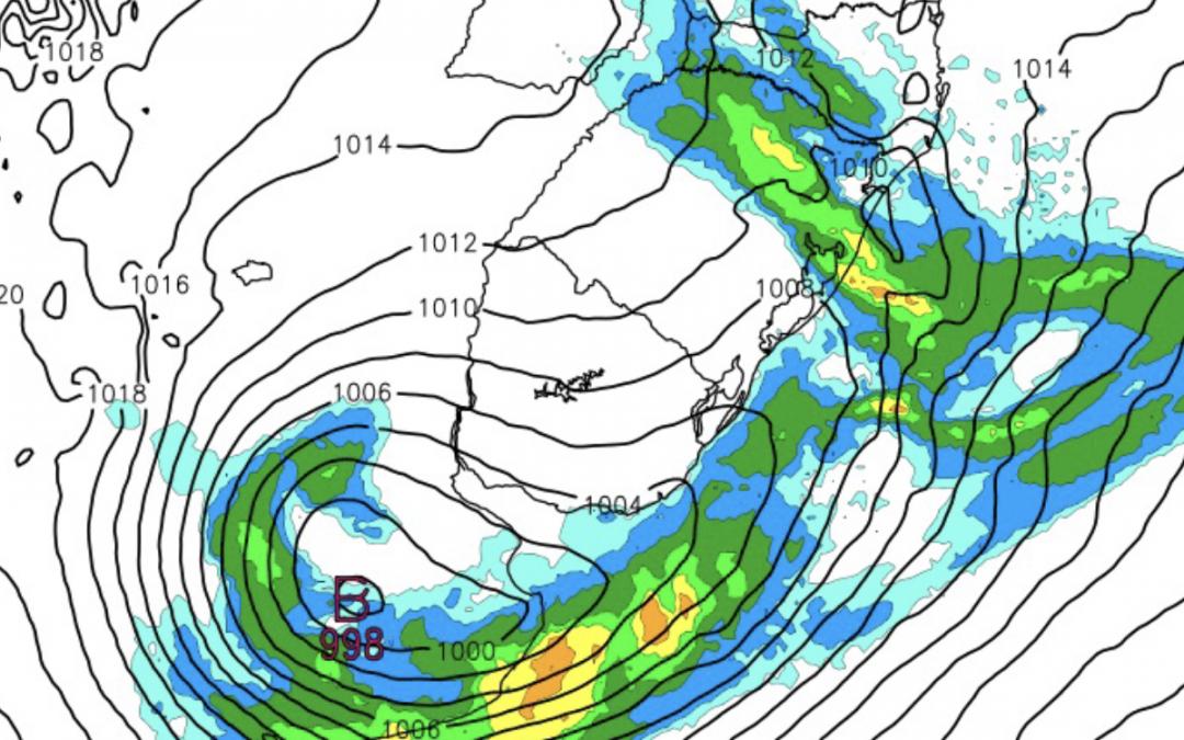 Argentina terá ciclone na metade da semana Ciclone extratropical na Argentina não será intenso e deve ter reflexos no tempo do Sul do Brasil